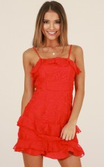 Hopelessly Devoted dress in red