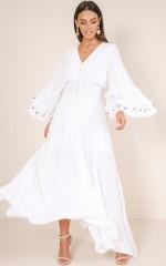 How I Wonder maxi dress in white