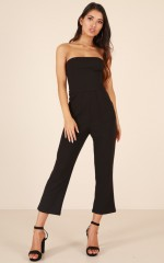 Hurry Over jumpsuit in black
