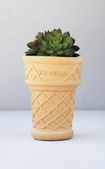 Ice Cream Cone planter in natural