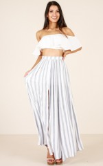 Innocent Eyes skirt in blue stripe
