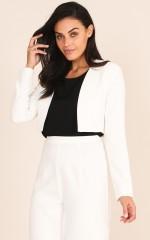 Inspired Blazer in White
