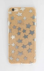 Estela iphone cover in gold glitter - 6 plus