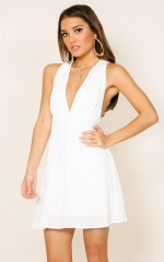 Ive Been Waiting dress in white