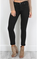 Tyra skinny jeans in black denim
