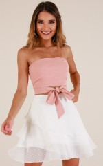 Join The Club skirt in white
