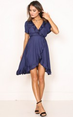 Kissed By The Sun dress in navy