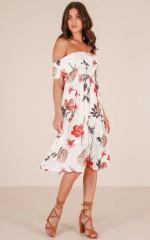 La Dee Da dress in white floral