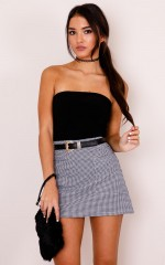 Lean On Me skirt in black check