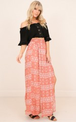 Lets Stay Together skirt in rust print