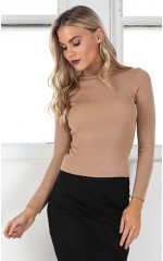Lust For Life top in camel