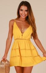 Like A Star dress in mustard