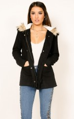 London parka in black