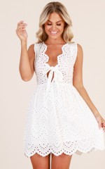 Look It Up dress in white