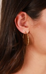 Los Angeles Bound earrings in gold
