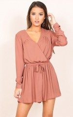 Lost Time playsuit in dark mocha