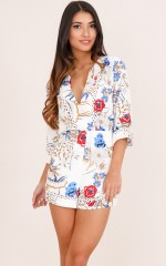 Love And Dream playsuit in white floral