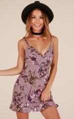 Love Flow dress in lilac floral