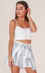 Love In Summer shorts in grey stripe