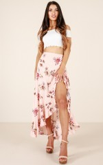 Love Like Gold skirt in mocha floral