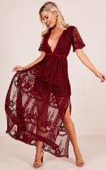 Love Spell Maxi dress in wine