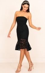 Love Vibes Dress in Black Lace