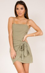 Loving You dress in khaki