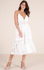 Lucky In Love dress in white