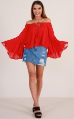 Made To Dance top in red
