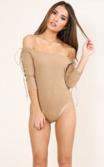 Madly bodysuit in camel