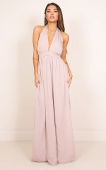 Make It Real maxi dress in mauve