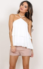 Malibu Baby halter top in white