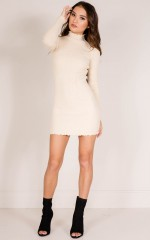 Marshmellow knit dress in nude