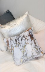 Moonlight cushion cover in gold marble print