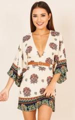 Memories Of Sunshine dress in beige print