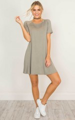 Mercy On My Heart dress in khaki