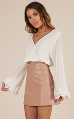 Missing Link top in white