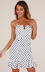 Misunderstood dress in White dot
