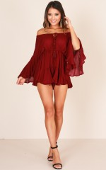 Montana playsuit in wine