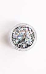Moon Sparkles in holographic silver