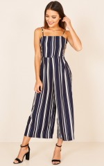 My Anthem jumpsuit in navy stripe