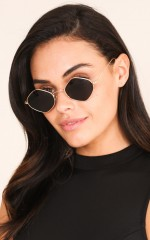 My Own Road sunglasses in black and gold
