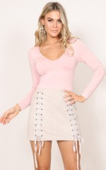 My Own Way Top in blush