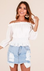 Natural Instincts top in white