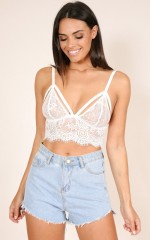 New Bae bralette in white lace