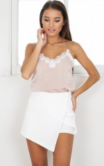 Nightcap skort in white