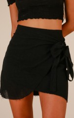 Not Happening skirt in black