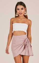 Not Happening skirt in blush