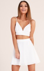 Not That Type Two Piece Set in White