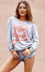 New York Minute Sweater in Grey Marle